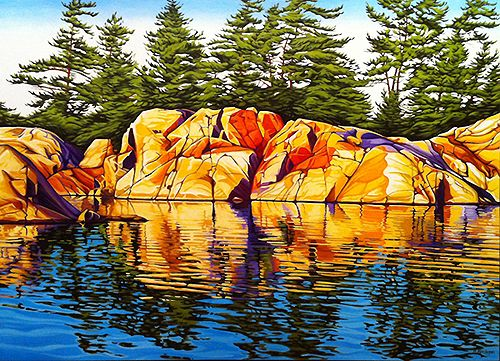 Reflections, Summer Afternoon - Oil on canvas Margarethe Vanderpas - Ontario artist