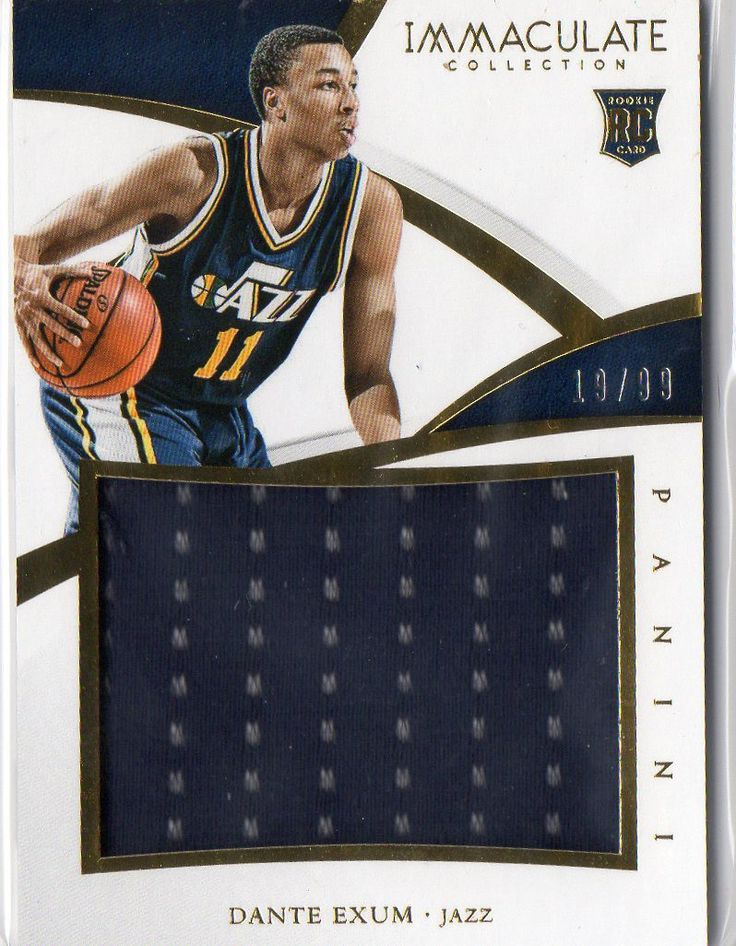 2014-15 Immaculate Collection Dante Exum Rookie Jumbo Jersey Card #D/99 Jazz