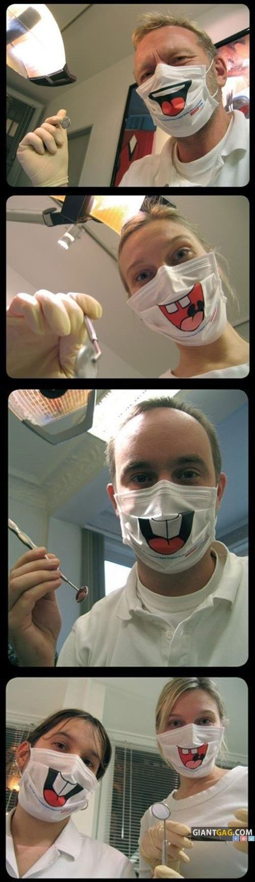 Dentists Smile Face Masks,  Click the link to view today's funniest pictures!
