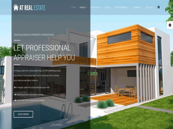 AT Real Estate Joomla! template by Age Themes on Creative Market