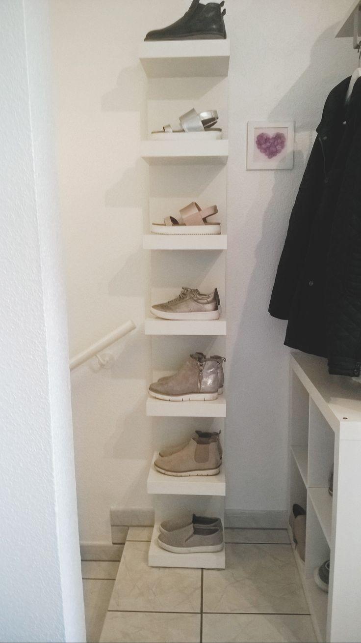 Ikea Lackregal als Schuhregal
