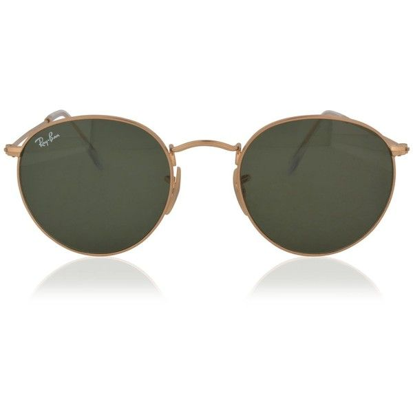 RAY BAN Round 0rb3447 Sunglasses ($165) ❤ liked on Polyvore featuring accessories, eyewear, sunglasses, ray ban sunglasses, velvet sunglasses, retro glasses, round lens glasses and retro style sunglasses