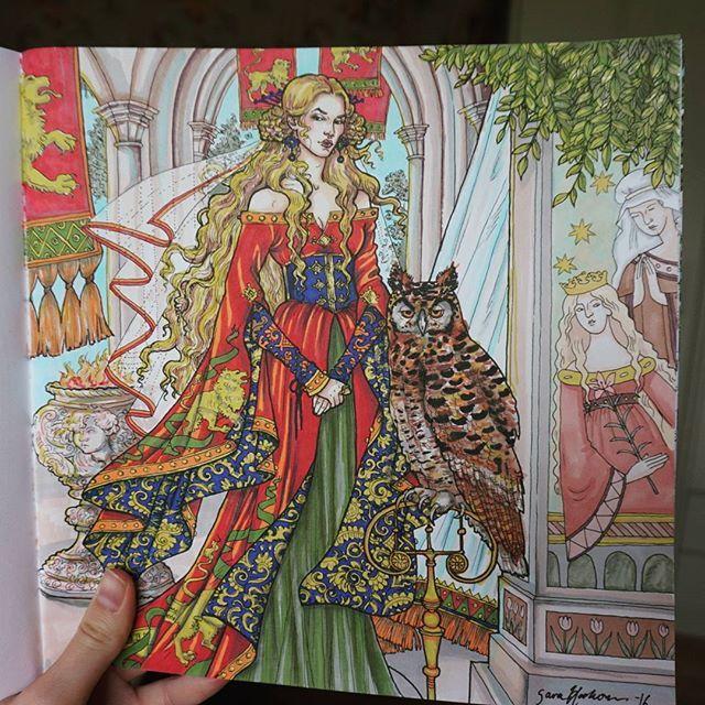 Frglagt Cersei Lannister Gameofthronescoloringbook Promarker Coloring BookGame Of ThronesCersei LannisterColor
