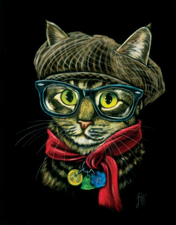 City Kitty print by CreativeScratchings on Etsy, $20.00