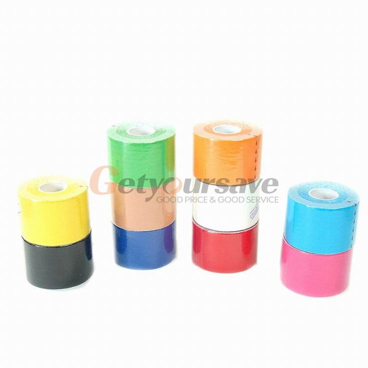 1 Roll 5mx5cm Sports Tape Kinesio Sports Physio Muscle Strain Injury Support Muscles Care Strap Sticker