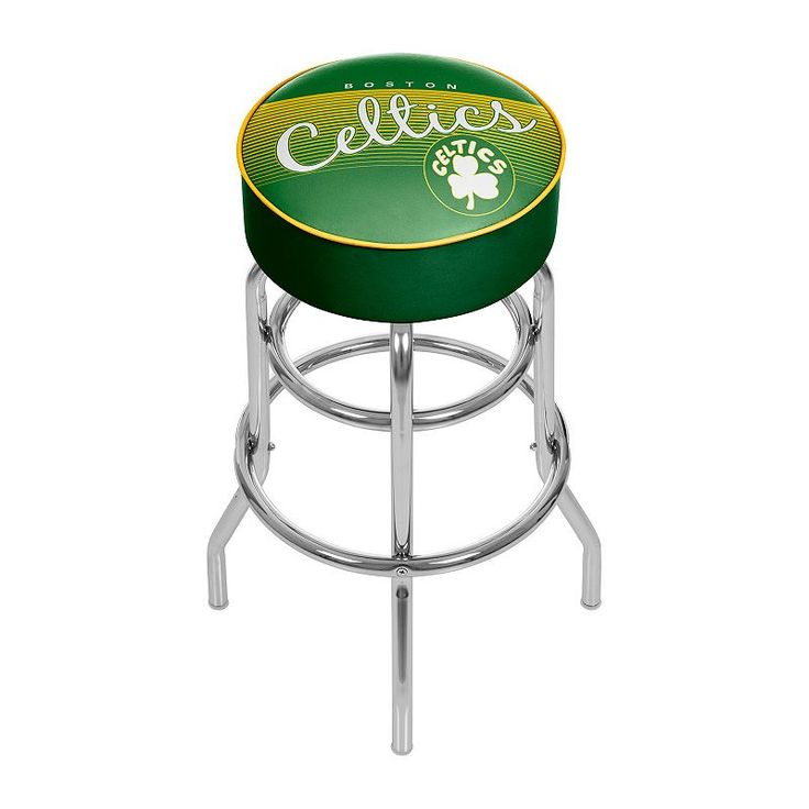 Boston Celtics Hardwood Classics Padded Swivel Bar Stool, Multicolor