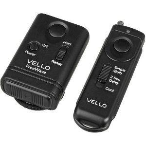 vello freewave wireless remote shutter release canon submini connection by vello