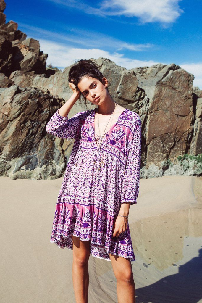 Flores Mini Dress in Orchid - Arnhem Clothing