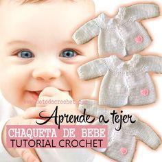 Como tejer un saquito de bebe al crochet tutorial