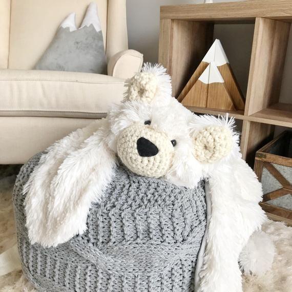 Bear Rug Bear Blanket Small Polar Minky Bear Plush