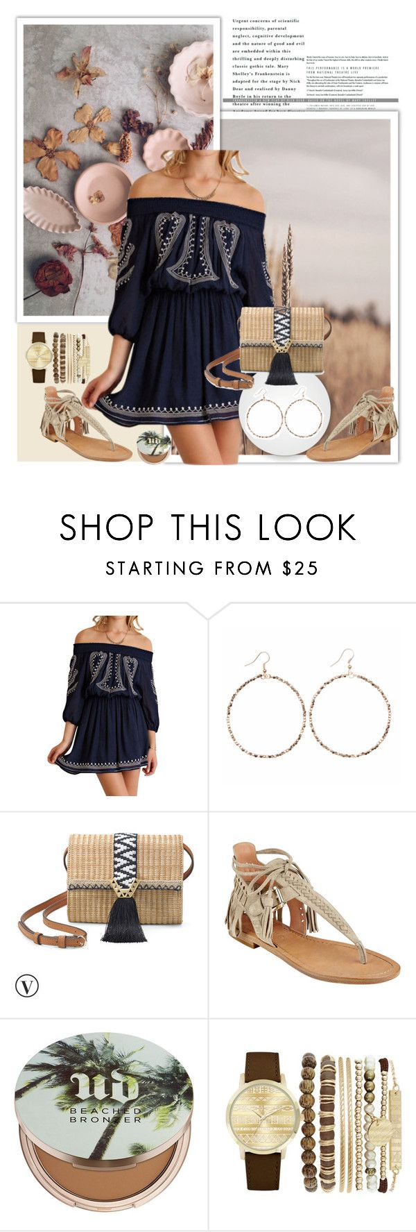 """""""One dress - two looks"""" by karic-lejla ❤ liked on Polyvore featuring Shira Melody, Stella & Dot, Sigerson Morrison, Urban Decay and Jessica Carlyle"""