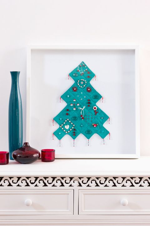 How to make a christmas tree wall hanging better homes Yahoo better homes and gardens