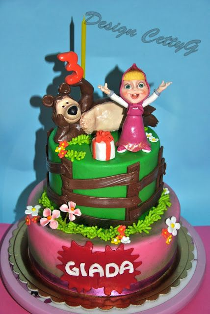 200 best images about cake on pinterest torte dragon for Masha e orso decorazione torte