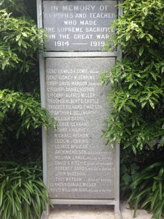 Winton School Roll of Honour - Historypin | Walking with an Anzac