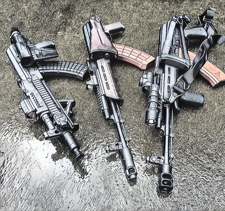The ladies, old picture but I used a different app for the effect. #ak #aks #ak47 #kalashnikov #rifle #tactical #762x39  #bulgarian #pistol #akallday #pewpew #pewlife #guns #gunsdaily #magpul #trijicon