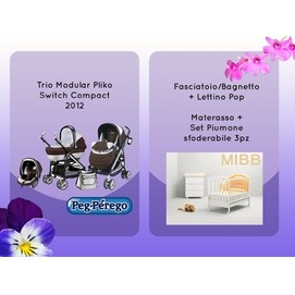 Lotto Violetta at the price of 999 € instead of 1100 €!!  Trio + Cot + Baby Bath / Changing + Mattress + Set Duvet!!  http://www.lachiocciolababy.it/bambino/lotto_violetta-3971.htm