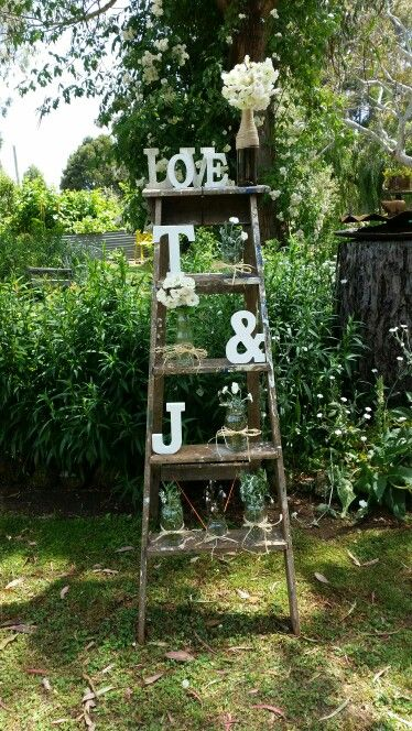 Rustic vintage garden engagement party decoration                              …