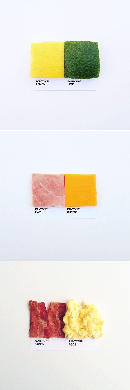 pantone pairings: lemon & lime, ham & cheese, bacon & eggs