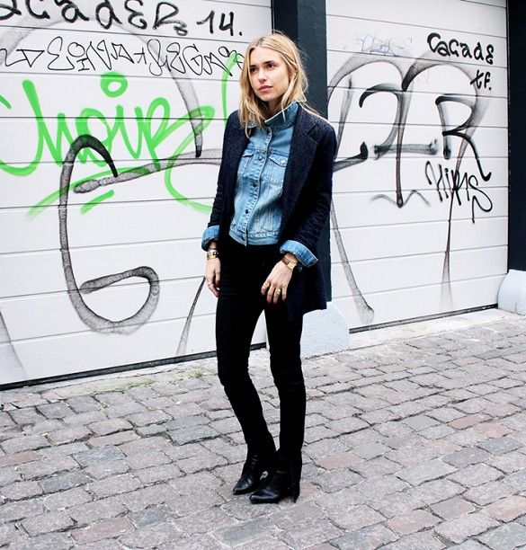 7 Ways To Style Your Denim Jacket This Spring via @WhoWhatWear