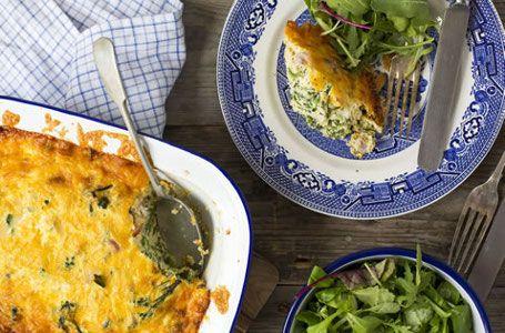 Broccoli, Ham and Egg Pie