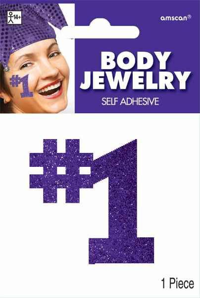 Purple #1 Body Jewelry   1 Piece