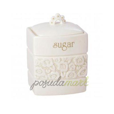 Банка для хранения сахара Georgia, 0.5 л, керамика, белый, серия Кухонная посуда и аксессуары, Premier