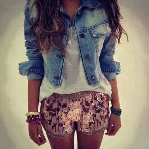 cropped #DenimJacket is always awesome with shorts! #MakeYourOwnJeans