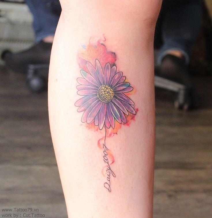 Watercolor Daisy Tattoo: Daisy Watercolor Tattoo Flower, By Tattoo79