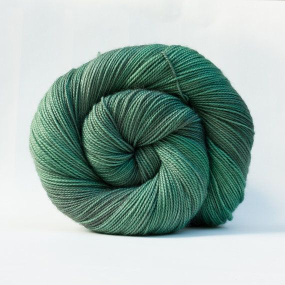 Jade on Merino Twist  2ply by SnailYarn