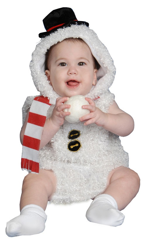 baby snow man costume fuzzy snow baby halloweencostumes4ucom 2800 - Where To Buy Infant Halloween Costumes