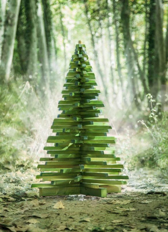 arbol de navidad en maderas