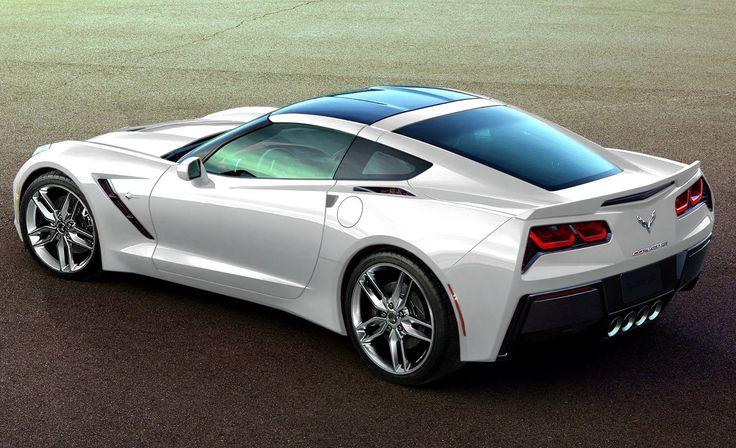 2014 stingray corvette   2014 White Chevrolet Corvette Stingray Back Side HD Wallpaper   Auto ...
