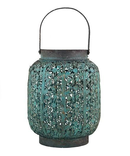 <p>Great for a table centerpiece, a romantic dinner or mood lighting, this pretty lantern adds just the right glow to...