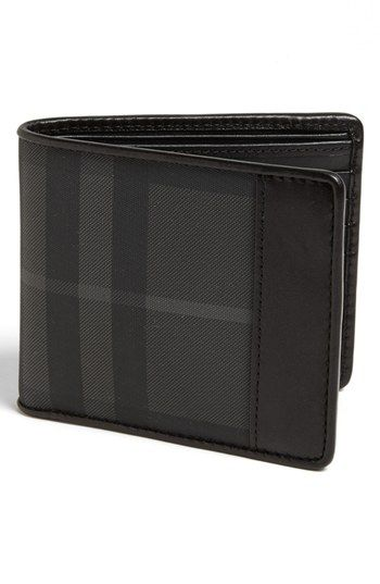 Burberry Check Print Bifold Wallet   Nordstrom
