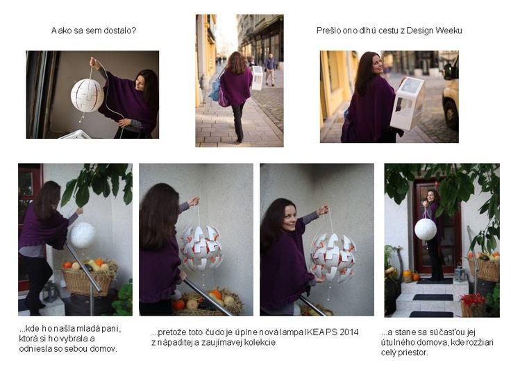 Fotopríbeh o tom, ako putovala lampa IKEA PS 2014 z Bratisalva Design Week-u. http://cont-in-new.com/