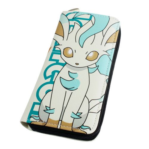 Pokemon Leafeon Wallet Female Cards Holders Cartoon PU Wallet baellerry Coin Purses girl Long Purse Men Wallets