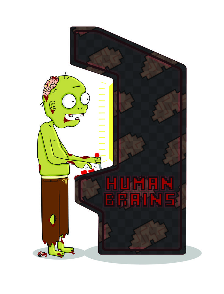 Zombie Player. #human #brains #hambre