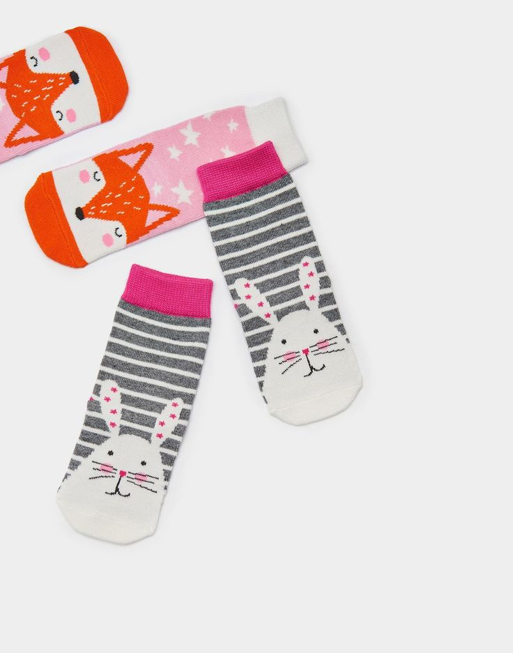 Neat feet Bunny Two Pack Bamboo Socks | Joules UK