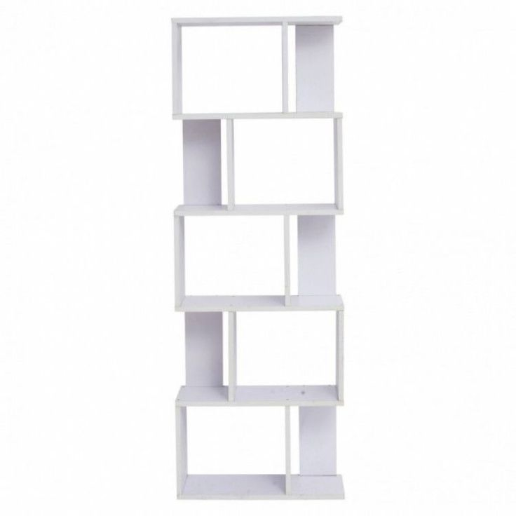 Modern Home Shelving Unit Display Storage Furniture Bookshelf 5 Tier Wood White #ModernHomeShelvingUnit #Modern