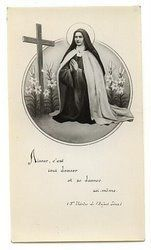 Aimer c'est tout donner et  se donner soi-même.  Saint Therese of Lisieux