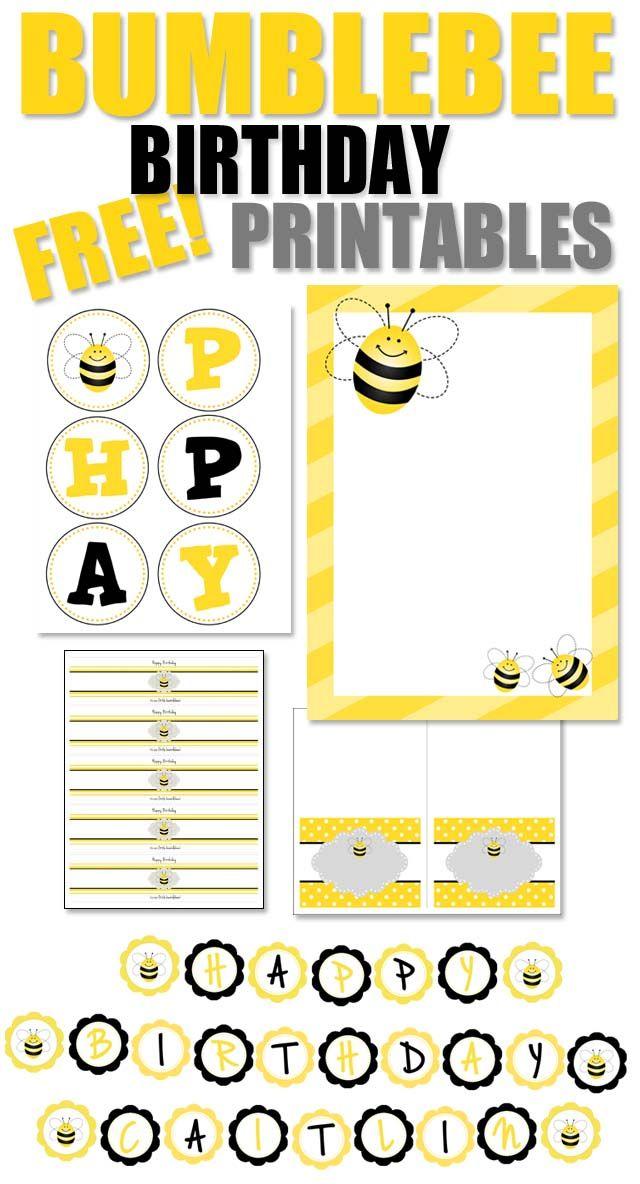 Bumble bee themed free printables | DIY Crafts: Printable Freebies ...
