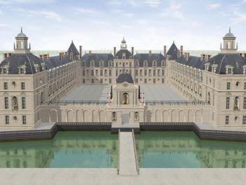 Château de Richelieu aujourd'hui disparu mais la ville existe toujours c'est un chef d'oeuvre du XVIIème siècle!