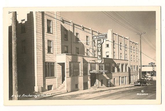 Anchorage Hotel-Anchorage Alaska RPPC Vintage Postcard on Etsy, $8.00