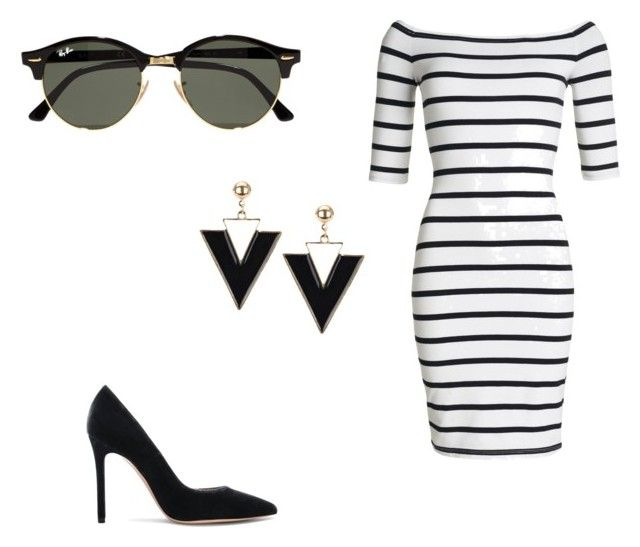 """""""Untitled #42"""" by erikaelena23 on Polyvore featuring Superdry, Gianvito Rossi and Ray-Ban"""