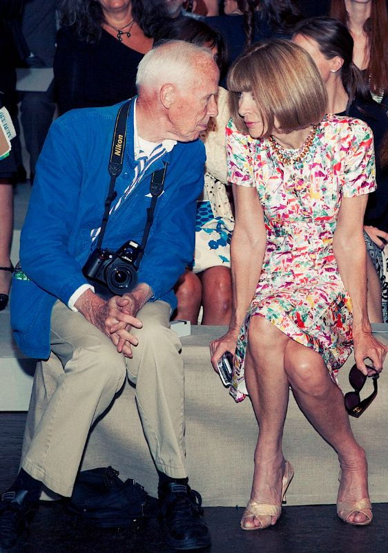 love. | Bill Cunningham and Anna Wintour