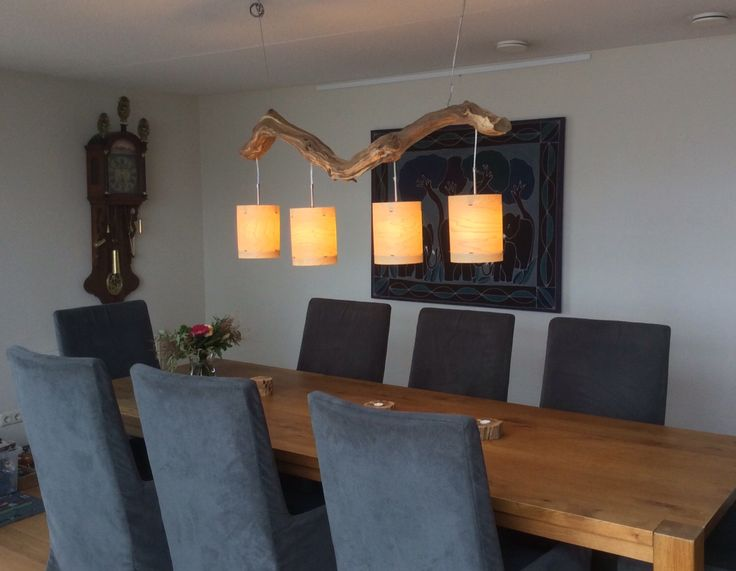 Unique Cozy ceiling lamp, with four lights, finished with real wood veneer lampshades. by GBHNatureArt on Etsy https://www.etsy.com/listing/219738913/unique-cozy-ceiling-lamp-with-four