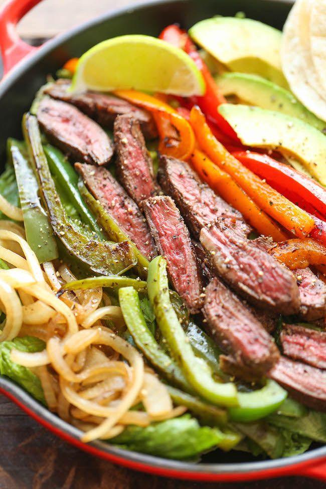 Steak fajita salad. Oh, yum!