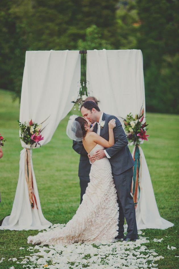 simple wedding arch