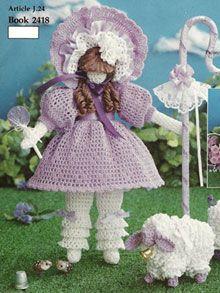 Вязание крючком для детей. Кукла-пастушка