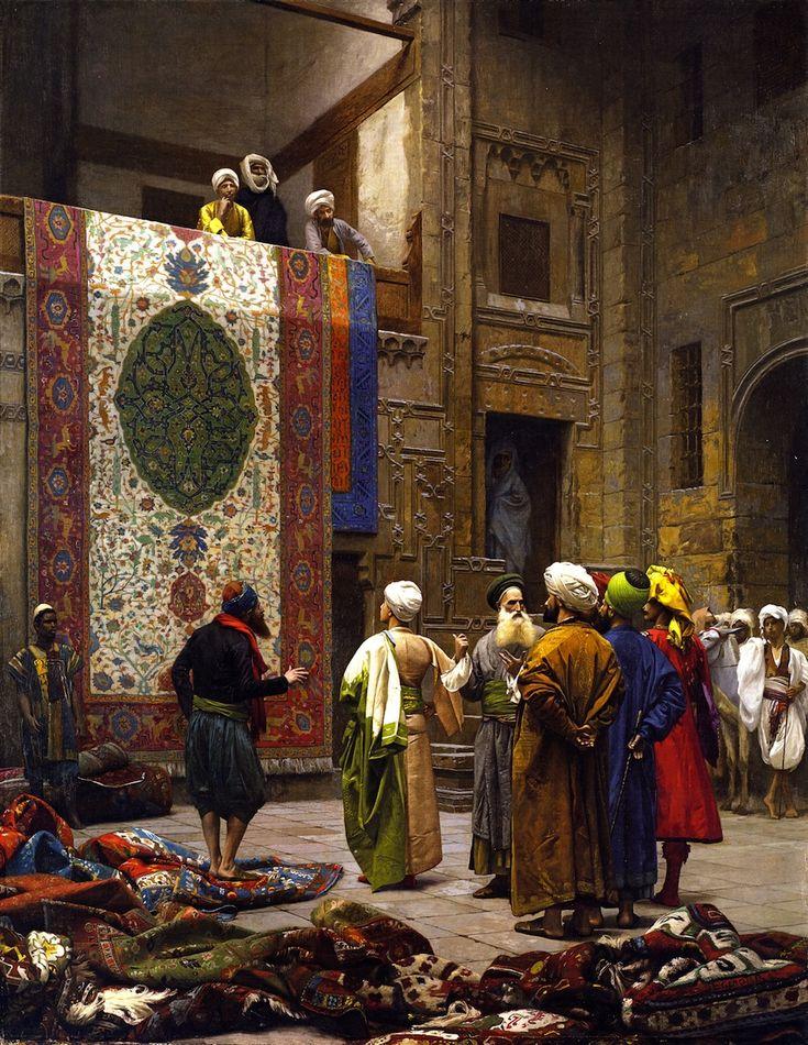 Carpet Merchant in Cairo Jean-Léon Gérôme - 1887